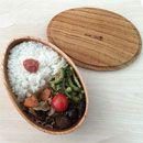 【送料無料】沖縄県産たまご型木製お弁当箱【お名前入れもできます】木のお弁当箱【お祝いの贈り物】運動会や遠足に