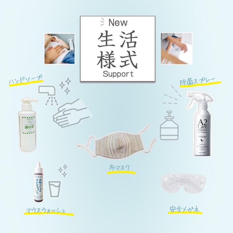 新しい生活様式に必要なアイテムは布マスク、手洗いやうがい